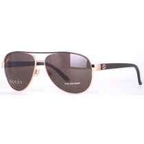 Gucci 4239/s Wpusp Aviador Ouro / Brown 58mm Sunglasses
