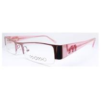 Armação De Óculos Para Grau Feminino Rosa Mio01 C33 Mj