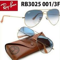 Ray Ban Aviador Marrom Azul Degradê Original 3025 3026