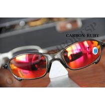 Óculos Juliet Lentes Polarizadas Oakley Plasma Carbon Polido