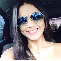 Óculos De Sol Aviador Azul Degrade Feminino Masculino P M G