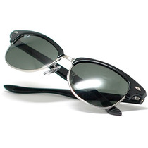 Óculos Ray Ban Rb 4132 Clubmaster Cats Black Silver