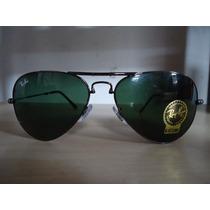 Óculos Aviador 3479 Grafite Lentes Verdes Dobrável Original