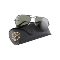 Óculos Sol Ray Ban Rb3025 Aviador Preto Polarizado 58mm M