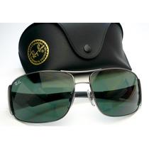 Oculos De Sol 3320 Mascara Grafite Lentes Verdes