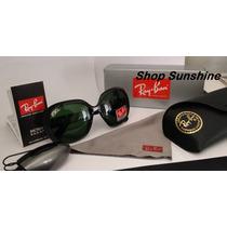 Óculos De Sol Rayban Rb 4098 Armação Preta Lente Verde