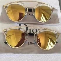 Oculos So Real Dourado Lente Dourada