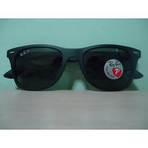 Óculos 4195 Wayfarer Liteforce Preto Fosco Verde Polarizada