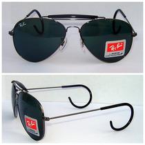 Óculos 3030 Caçador Grafite Lentes Verdes Frete Grátis;