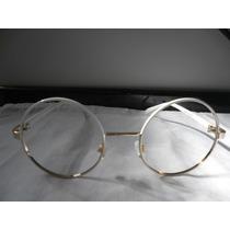 Armação/óculos Redondo 50 Mm Branco Sem Lentes Para Grau