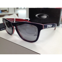 Oculos Oakley Frogskins.lx 002043-05 Navy W/ Chrome Original