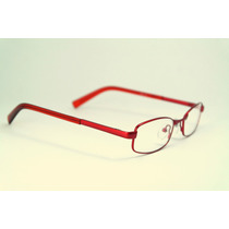 Armação De Óculos Infantil Metal Acetato Vermelho Mj