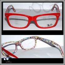 Armação Para Óculos De Grau Modelo Rb5228, Várias Cores