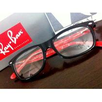 Armação Oculos De Grau Rb5228 Wayfarer Red Black Ray Ban