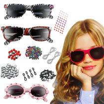 Óculos De Sol Infantil Kit Ateliê My Style Brinquedo Criança
