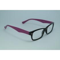 Armação De Óculos Grau Preto E Roxo Em Acetato 9603 C67 Mj