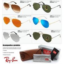Óculos Ray Ban Original 58 3025 / 62 3026 Espelhado Degradê