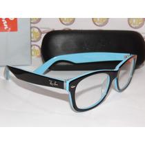 Armação Oculos Grau Rb5184 Azul Acetato Ray-ban Frete Gratis