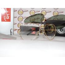 Armação Oculos De Grau E Sol Rb8569 Clip On Polarizado Gold