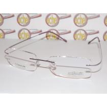 Armação Óculos Grau Silhouette Purple Flexivel B668 Titanium