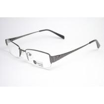 Armação De Óculos Feminino Cor Chumbo Metal Ohf9031 C1 Mj