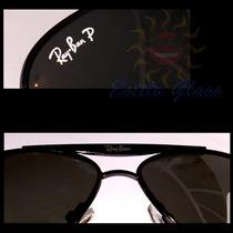 Óculos Aviador Rb8015 Grafite, Lentes Escuras Polarizadas