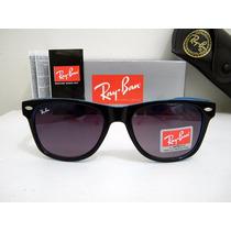 Oculos De Sol Rayban Way Preto/azul Lente Fumê