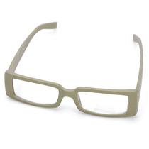 Moderno Óculos Com Armação Quadrada Estilo Madeira - Bege