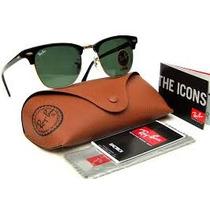Oculos De Sol Ray Ban Clubmaster 3016 +case Marrom- Garantia
