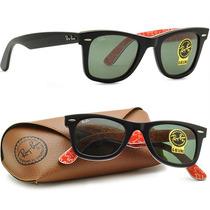 Óculos De Sol Rayban Wayfarer 2140 - Case Marrom Frete Free