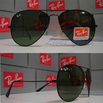Óculos De Sol 3026 Grande Armação Preta Lentes Escuras