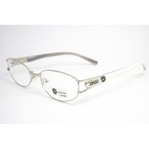 Armação Óculos Feminino Prata E Branco Hr1032 C10mj