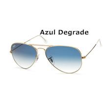 Óculos Rayban Aviador Azul Degrade Ray Ban 100% Original