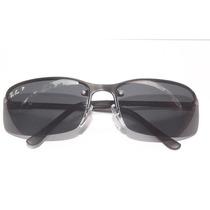 Oculos De Sol 3217 Grafite Lentes Verdes Polarizado