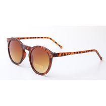 Óculos De Sol Vintage Retrô Preto, Lente Espelhada!