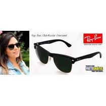 Oculos De Sol Rayban Clubmaster 4175 Oversized Preto Sedex