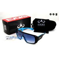 Óculos Amplifier Evoke Azul / Preto Solar Lente Degradê Show