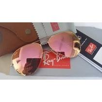 Ray Ban Aviador Rb3026 Dourado/rosé Espelhado Lançamento !!