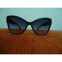 Oculos De Sol 5271 Modelo Gatinha Preto Fume Degrade