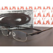 Armação Óculos Grau Modelo Wingspan Metal Preto Meio Aro