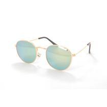 Óculos De Sol Redondo Da Moda Proteção Uv400