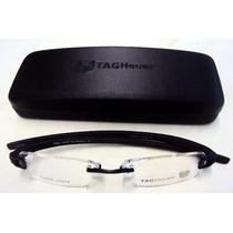 Armação Oculos Tag Heuer Preta Th5069 + 4 Cores+case+flanela