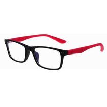Armação De Óculos De Grau Emborrachado Cor Vermelho