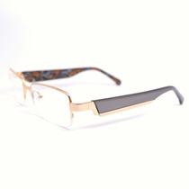 Armação Óculos Feminino Acetato E Metal Cinza Zm Fl0043c2 Mj