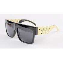 Óculos De Sol Colar Dourado Kim Kardashian Hip Hop Beyonce