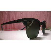 Óculos De Sol Rayban Original Clubmaster Madeira Fotos Reais