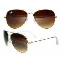 Ray-ban Ray Ban Barato Aviador 3025 E 3026 - Marrom Degrade