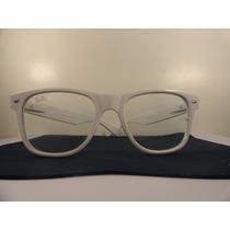 Óculos Rayban Way Branco Lente Transparente