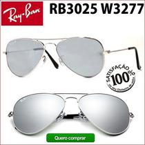 Ray Ban Rb3025 3026 W377 Aviador Frete Grátis P Todo Brasil