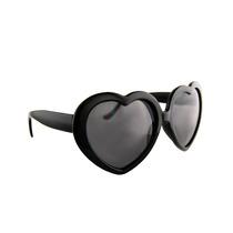 Óculos Coração Preto Lolita Ponta De Estoque- Pronta Entrega